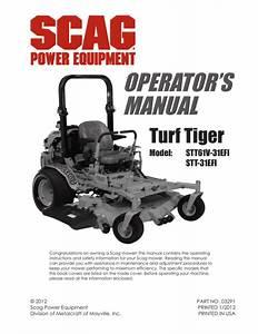 Scag Turf Tiger Manual