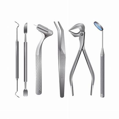 Tools Dentist Vector Tooth Equipment Healthcare Realistic