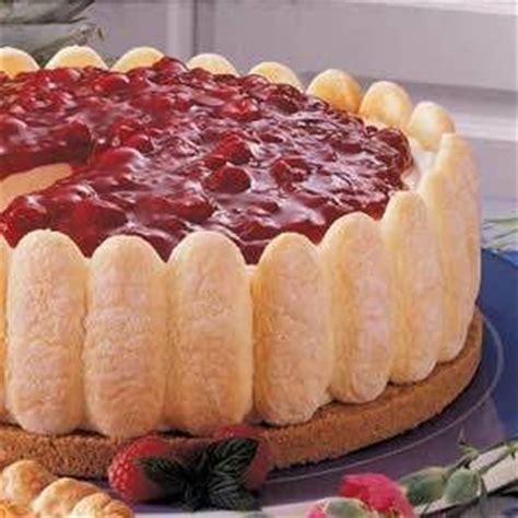 More eggless baking & desserts. Strawberry Lady Finger Cake Recipe | SparkRecipes