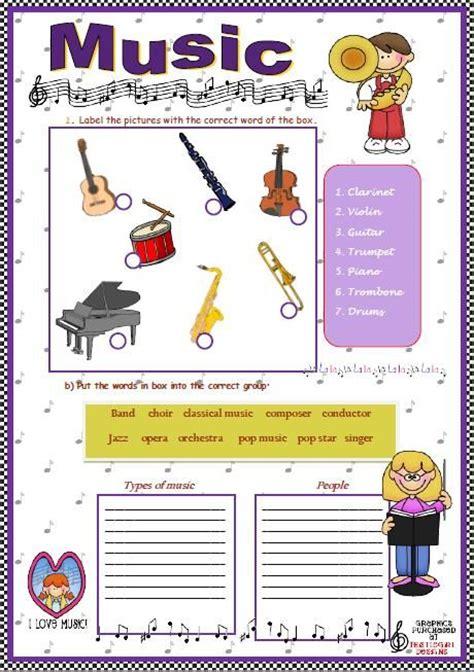 53 Free Music Worksheets  Worksheets Pinterest