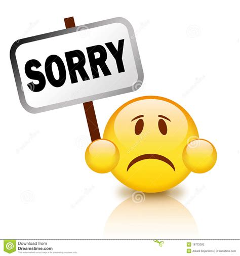 Sorry Clipart Saying Sorry Clipart