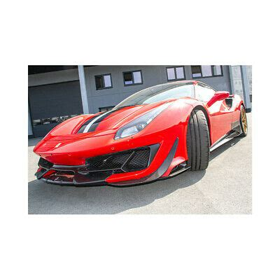 Fits 2015+ ferrari 488 gtb. Capristo Ferrari 488 Pista Carbon Fiber Front Spoiler with Side Wings | eBay