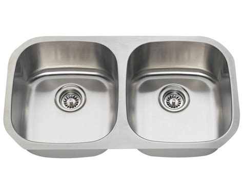 16 gauge stainless steel sink 32 inch stainless steel undermount 50 50 double bowl