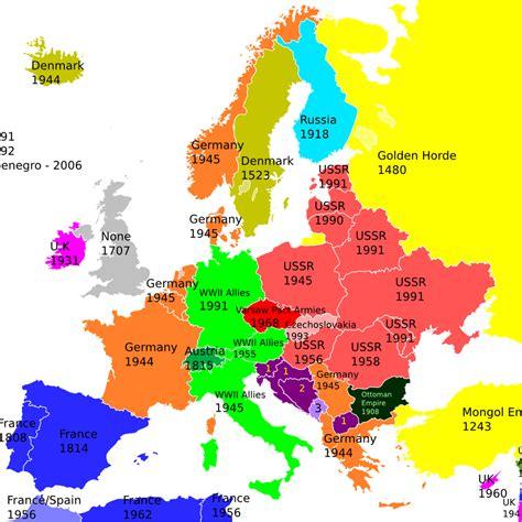Europa Länder Karte