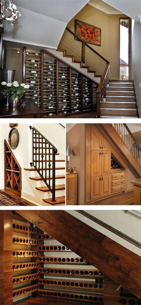 build  wine cellar   stairs woodworking
