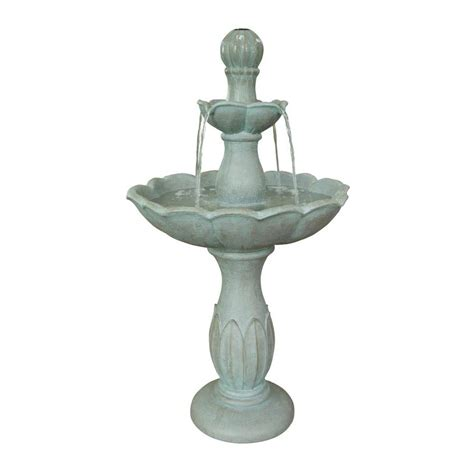 shop garden treasures 35 43 in resin tiered fountain at