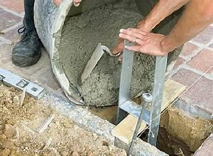 Comment Fixer Un Poteau Bois Au Sol : fixation de poteau quel support choisir blog ~ Dailycaller-alerts.com Idées de Décoration