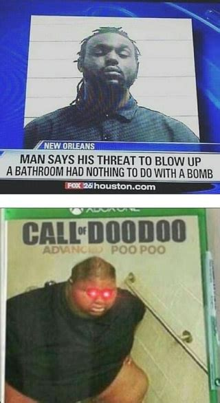 man   threat  blow   bathroom  ndthing