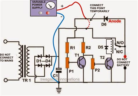 regulating lead acid battery charger circuit
