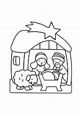 Crib Coloring Christmas Pages Simple Children Printable Justcolor sketch template