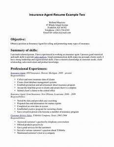 insurance agent resume recentresumescom With insurance professional resume