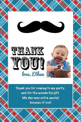 LITTLE MAN Printable Birthday Party THANK YOU CARD Photo