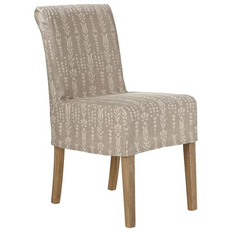 linen slip cover for echo low back dining chair