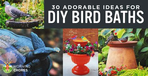 30 adorable diy bird bath ideas that are easy and to build