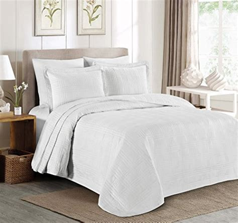 King White Coverlet by Oversized King Coverlet Set White