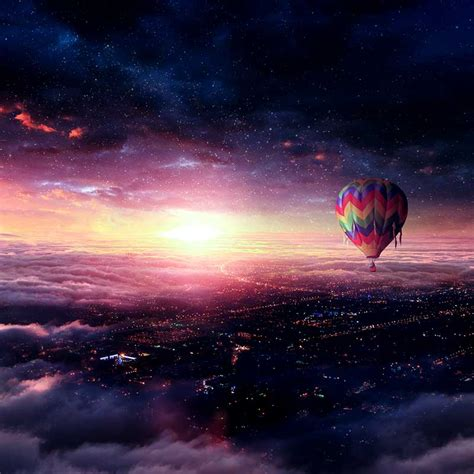 create hot air balloon adventure photo manipulation