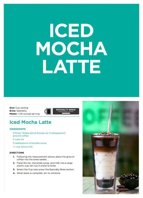 The ninja coffee bar has some amazing features so i can use it in all my our coffee drinks. iced mocha latte recipe   Ninja coffee bar recipes, Mocha ...
