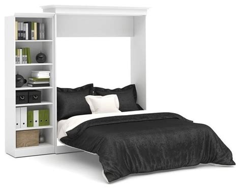 bestar versatile 92 wall bed kit white with