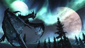 The Elder Scrolls V - Skyrim Dragon HD Heavenly Wallpaper