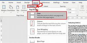 Add A Manual Page Break In Word