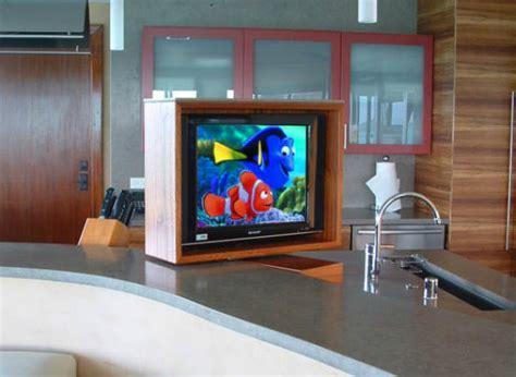 unique small kitchen tv ideas