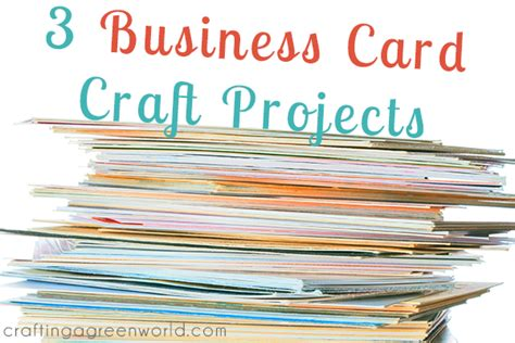 ways  upcycle business cards