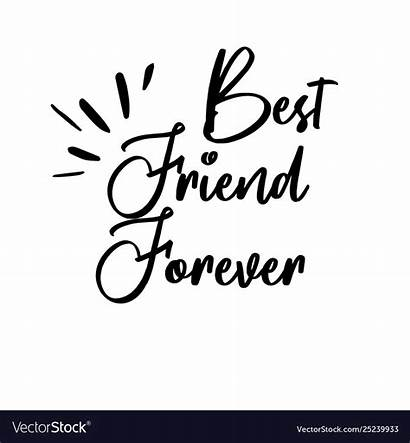 Friend Forever Lettering Calligraphy Card Motivation Poster
