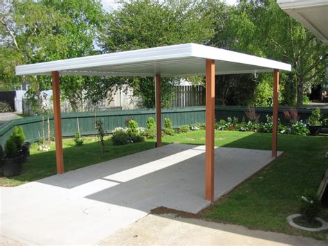flat roof carports single carport flat roof entry wood