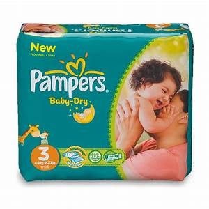 43 Couches Pampers Baby Dry Taille 3 Midi 4 9 Kg Allo