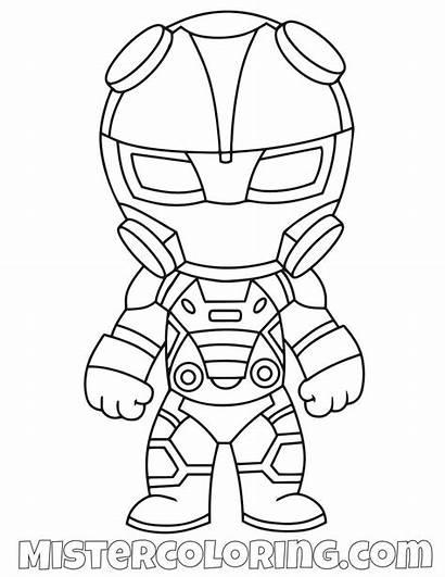 Fortnite Coloring Pages Omega Skin Chibi Ninja