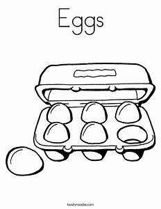 Eggs Coloring Page - Twisty Noodle