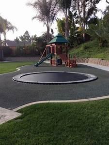 In Ground Trampolin : in ground trampoline are safer way to jump high in your backyard ground trampoline ~ Orissabook.com Haus und Dekorationen