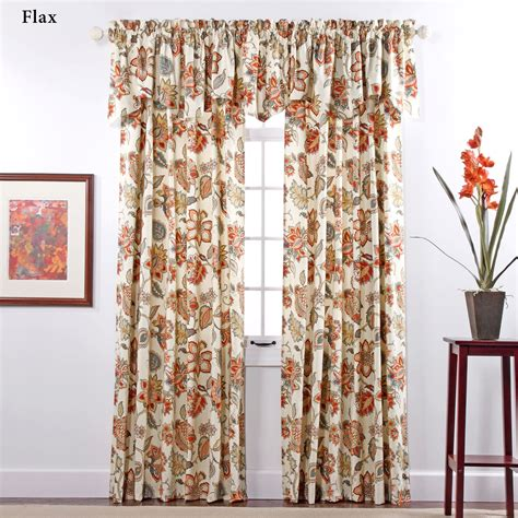 jacobean floral lined rod pocket curtains jacobean floral window treatment
