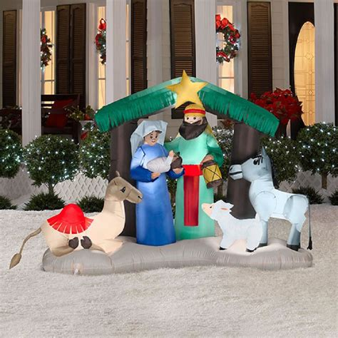 lowes inflatable outdoor christmas decorations