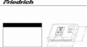 Friedrich Thermostat Rt2 User Guide