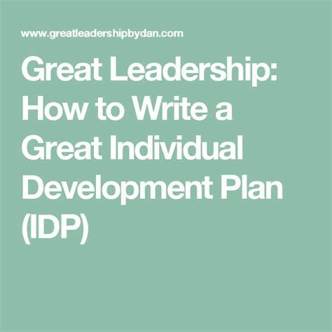 great leadership   write  great individual