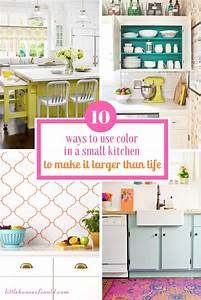 10 Ways to Use Color in a Small Kitchen