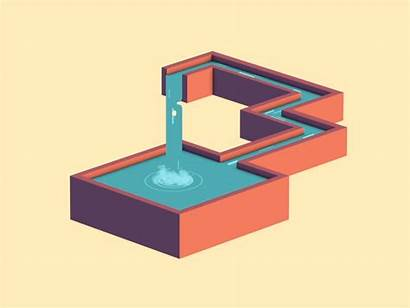 Waterfall Impossible Loop Owen Strange Illusion Optical