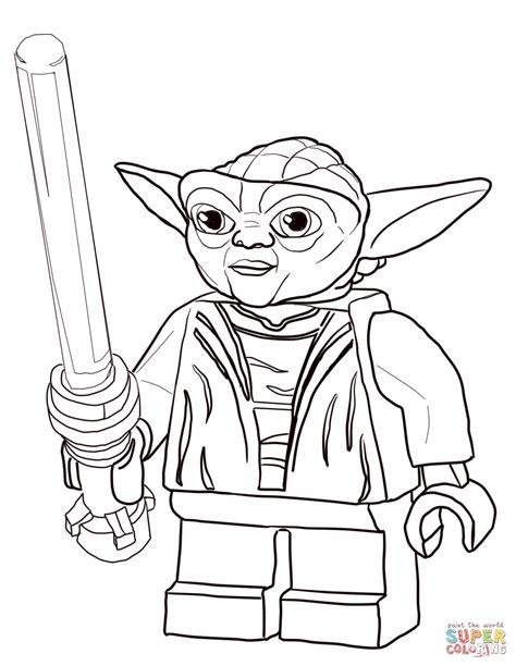 Lego Star Wars Master Yoda Coloring Page Free Printable