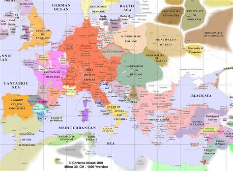 Europe Map during Crusades