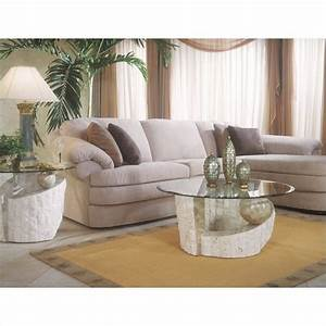 ponte vedra 2 piece round glass top cocktail table set in With ponte vedra coffee table