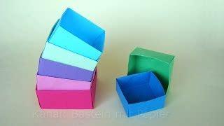 Schachtel Falten  Origami Box Basteln  Basteln Mit