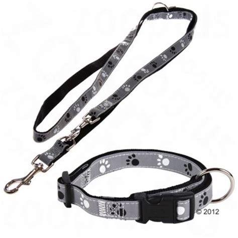 hundeleine und halsband trixie set halsband pfoten silver reflect hundeleine g 252 nstig bei zooplus