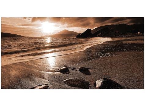 modern brown canvas prints   beach sunset