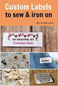 fabric labels for handmade items diy crush With how to make woven labels