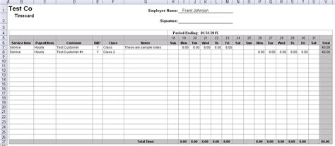 Time Sheet Template For All Employees Word by Free Simple Excel Employee Timesheet Template 1726