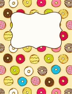 Free printable donut binder cover template. Download the ...