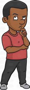 A Black Guy Weighing In A Dubious Idea Cartoon Clipart ...