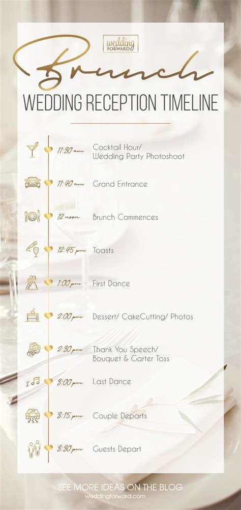 expert tips  create wedding reception timeline