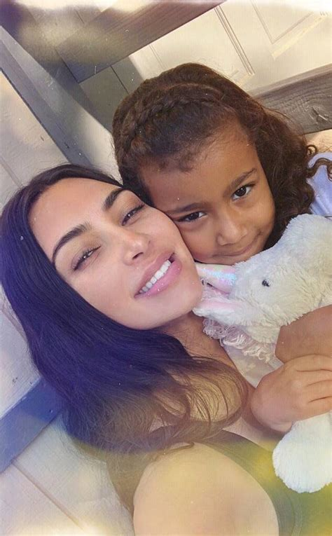 Kim Kardashian Grins and Cuddles North West in Sweet Post ...